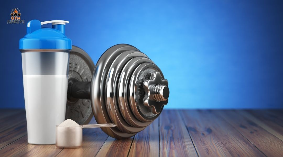 supplements in front of barbell