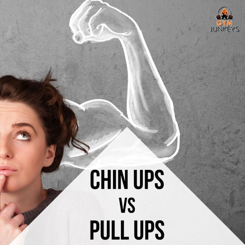 The difference between pull ups and chin ups